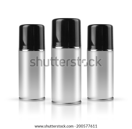 Sprays with clipping path. - stock photo
