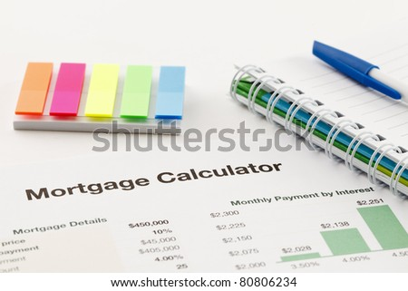 Spreadsheet Printout - stock photo