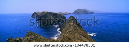 Spring at Anacapa Island, Channel Islands National Park, Ventura, California - stock photo