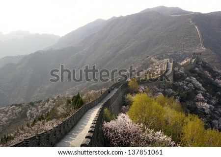 Spring at The Great Wall of China, Mutianyu section near Beijing, China