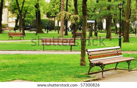 Spring at the park - stock photo