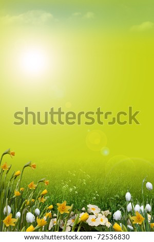Spring background, portrait - stock photo