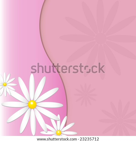 Spring background with tone on tone flowers - stock photo
