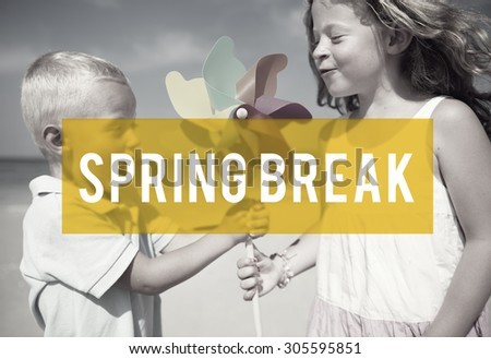 Spring Break Beach Party Teenager Adolescence Leisure Concept - stock photo