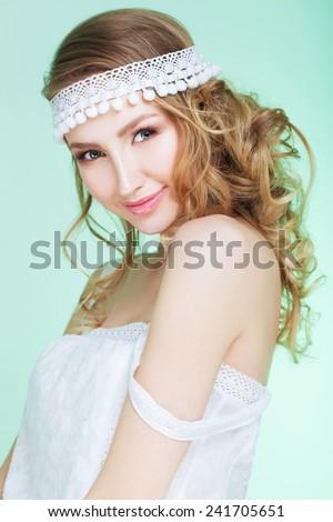 Spring bride - stock photo