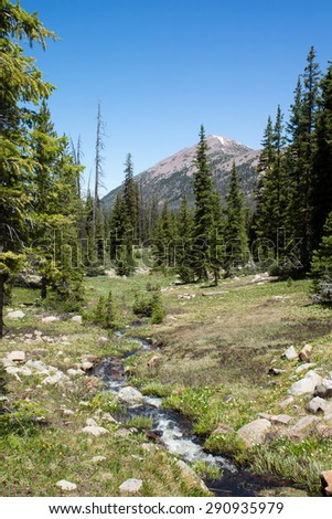 Spring Brook Valley.  Uinta-Wasatch-Cache National Forest, Utah - stock photo
