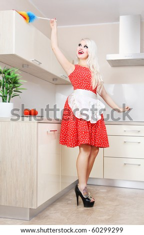 Spring cleaning in the kitchen, similar available in my portfolio - stock photo