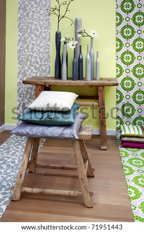 spring color for decoration interior elements