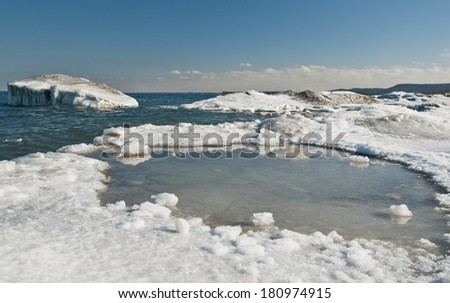 Spring comes to the Lake - stock photo