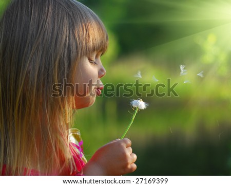 Spring fun in the forest - stock photo