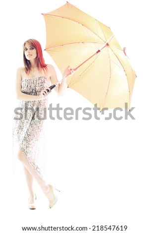 spring girl - stock photo