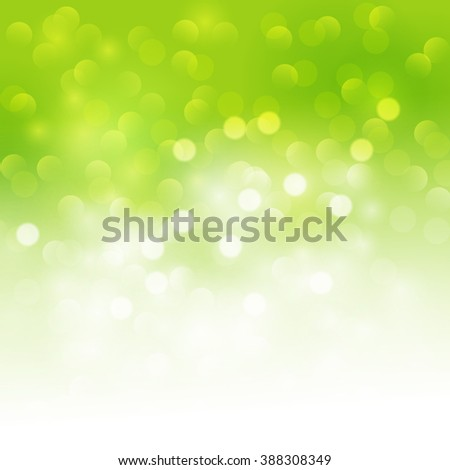 Spring green Abstract colorful vector background. Green blurred background with bokeh - stock photo
