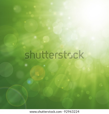 Spring green background - stock photo