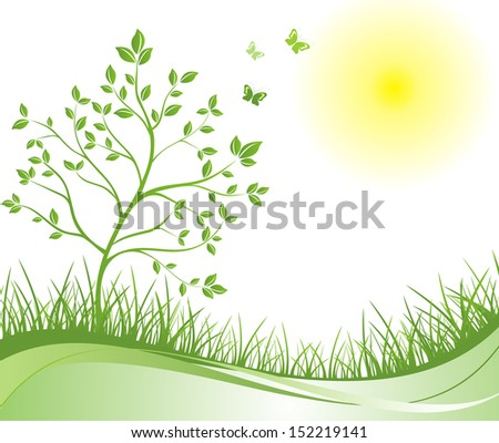 Spring green background. Raster copy