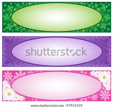 Spring Holiday Banners - stock photo