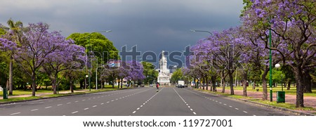 Spring in Buenos Aires - stock photo
