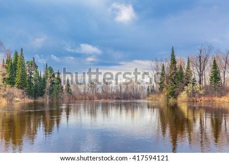 Spring in Siberia. - stock photo