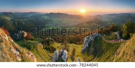 Spring in Slovakia mountain - stock photo