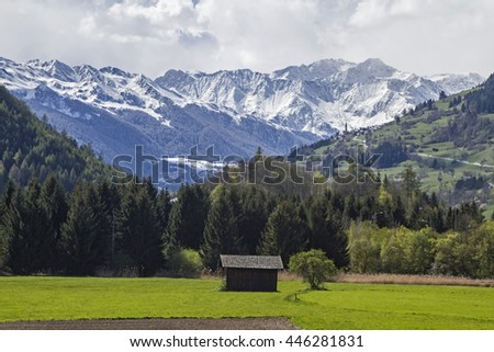 Spring in the Eisack Valley near Sterzing - stock photo