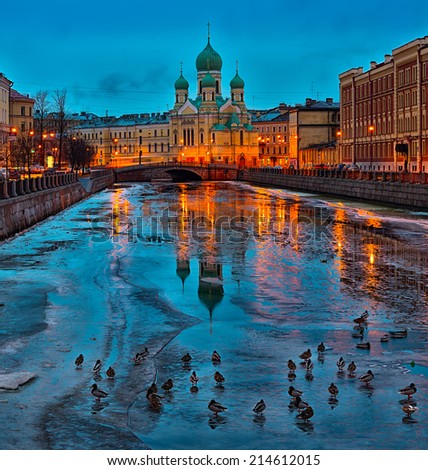 Spring is coming to Saint Petersburg, Russia