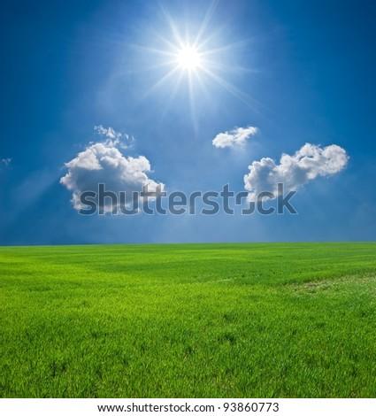 spring landscape - stock photo