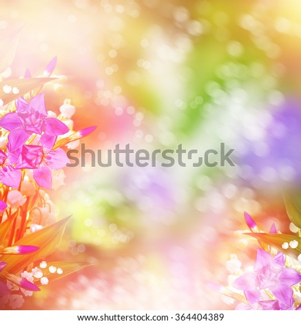 spring landscape with flowers lily of the valley. floral background - stock photo