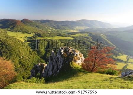 Spring mountain in Slovakia. - stock photo