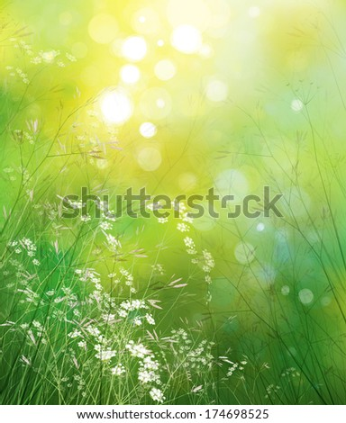 Spring  nature background. - stock photo