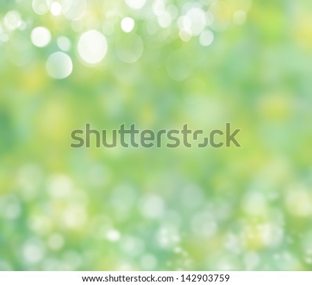Spring nature background with grass and bokeh - stock photo