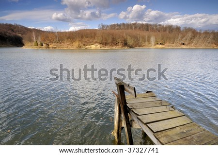 Spring on the lake - stock photo