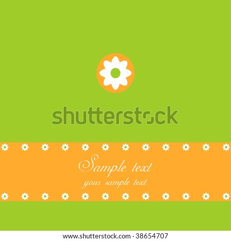 Spring or Easter greeting card, summer background - stock photo