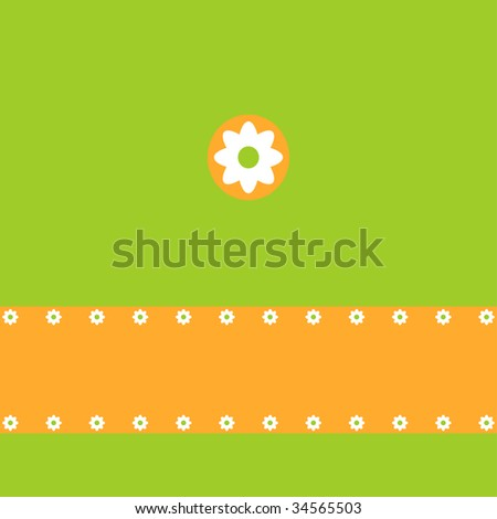 Spring or Easter greeting card, summer background (jpg) - stock photo