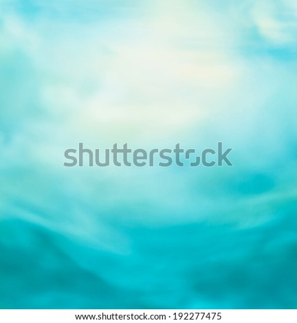 Spring or summer abstract nature background with blue sea and sky. Ocean blur - stock photo