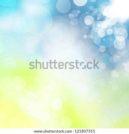 Spring or summer abstract nature bokeh background.