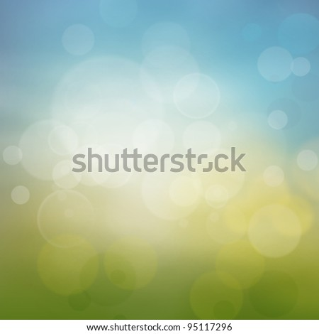 Spring or summer abstract season nature background with nature colors and bokeh lights. - stock photo