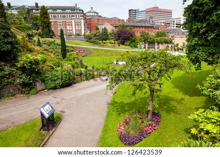Spring park in Nottingham - stock photo