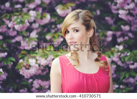 spring portrait - stock photo