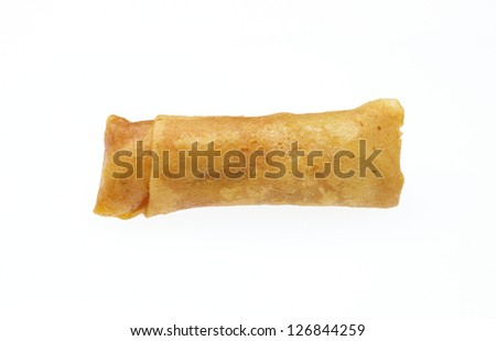 spring rolls on dish for take out image