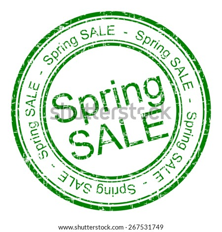 spring sale rubber stamp - stock photo