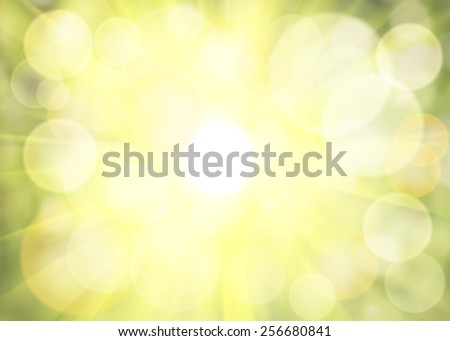 Spring shiny bokeh. Illustration background. - stock photo
