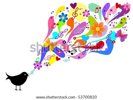 Spring song - stock photo