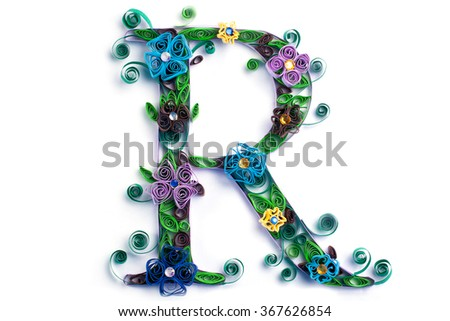 Spring theme quilling letter quilling fonts stock photo edit now spring theme quilling letter from quilling fonts collection altavistaventures Gallery