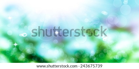 Spring Time.Abstract beautiful nature background - stock photo