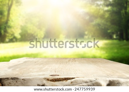 spring time and top  - stock photo