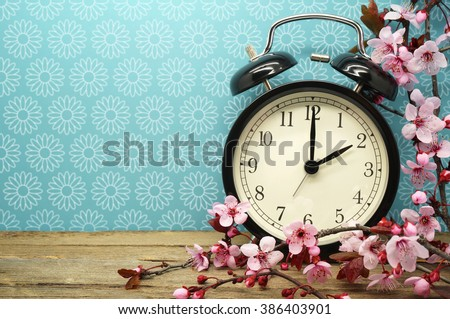 Spring Time Change Background - stock photo