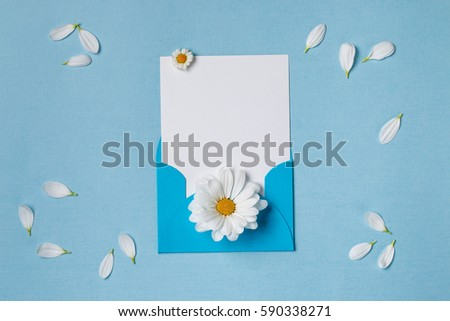 Spring Top View Composition Blank Stationary Stock Photo (Royalty ...