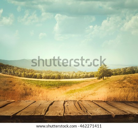 Spring tree  background. Grass and cloudscape art Design. Summer environmetal landscape concept.