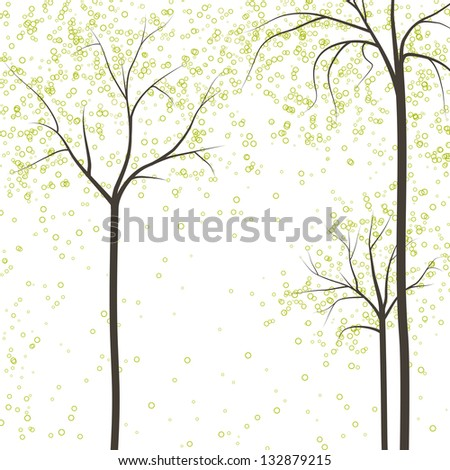 spring trees, rasterized vector. Vector file is also available in my portfolio.
