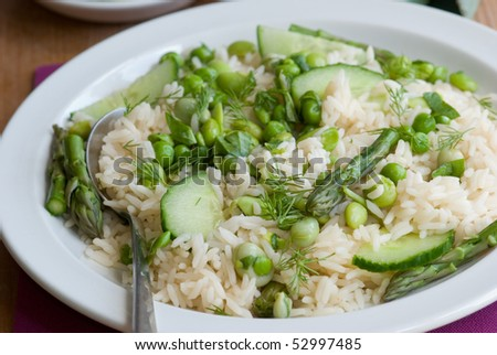 Spring vegetable basmati rice