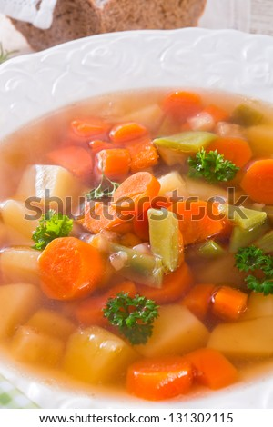 Spring with carrot soup - stock photo